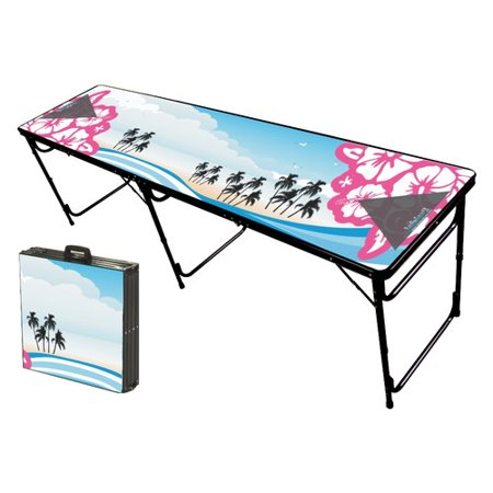 Party Pong Tables Hibiscus Folding And Portable Beer Table