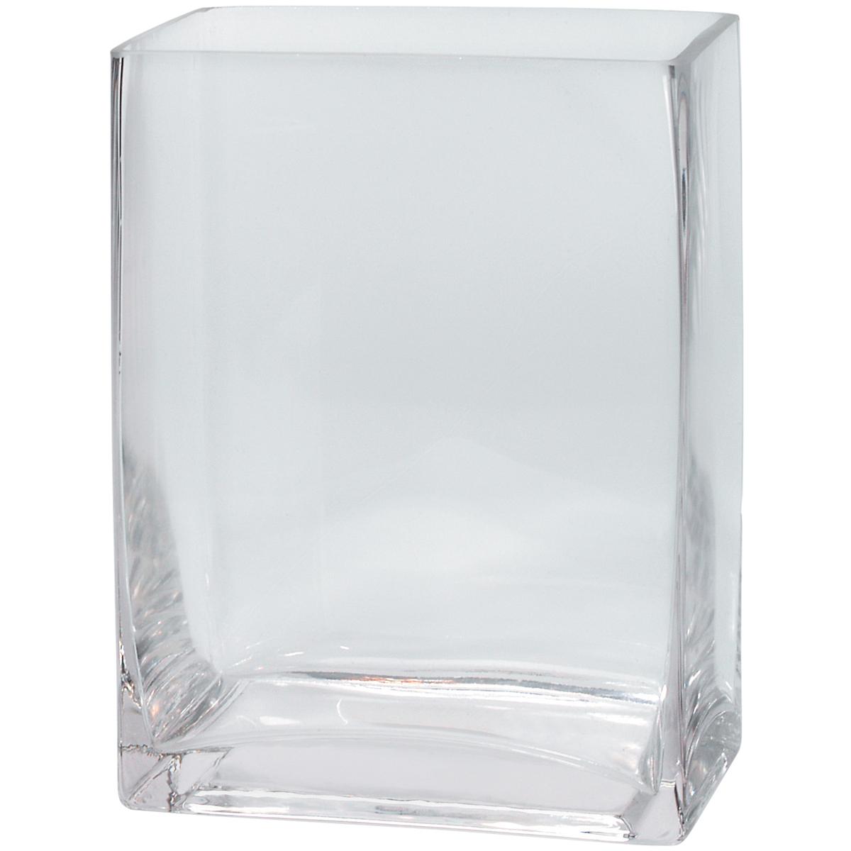 """DARICE Glass Square Vase 4""""X6""""X8""""-"""