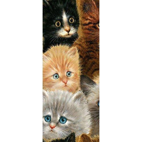 Purrfect Friends Packed Cats Fleece Fabric