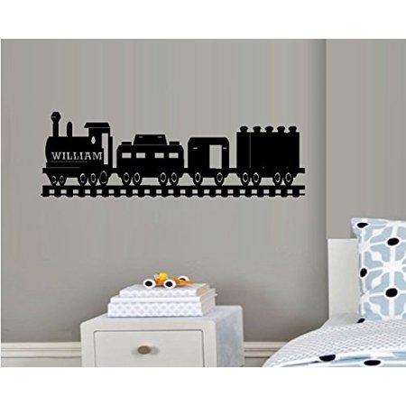 Decal ~ Train #5 (CUSTOM NAME) ~ Wall Decal 10