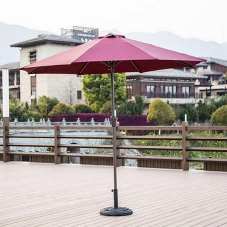 9ft Outdoor Adjustable Height Anti-UV Patio Umbrella 8 Rib Market Umbrella Fade Resistant Sunshade Beach Umbrella Garden Shade or Pool with Crank without Base - image 2 de 7