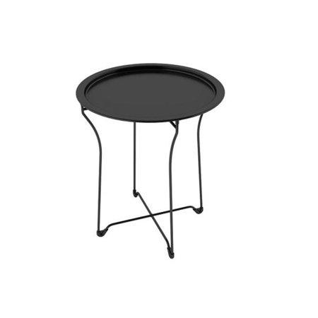 Metal Tray Side Table, Black Metal Side Table