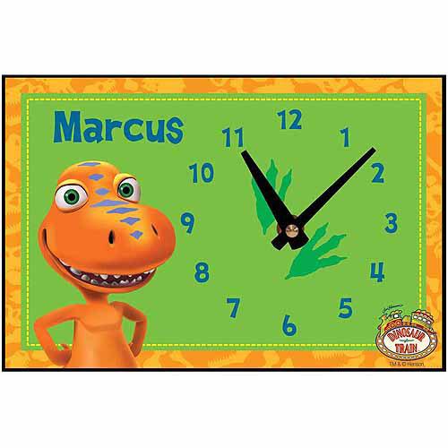 Personalized Dinosaur Train Buddy Tracks Desk Clock