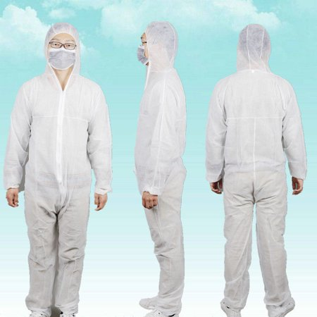 Light Duty Disposable Coverall Suit With Head - Heavy Duty Coverall