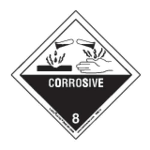 LABELMASTER HML13C Corrosive Label,100mmH,Paper,100 Labels G0551857