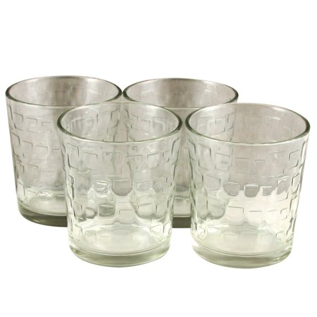 Gibson Home Great Foundations 4 piece 13 oz Embossed Glass Set 13 Ounce Clear Glass