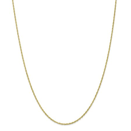 10k Yellow Gold 1.3mm Heavy Baby Link Rope Chain Necklace 18 Inch Pendant Charm Gifts For Women For Her