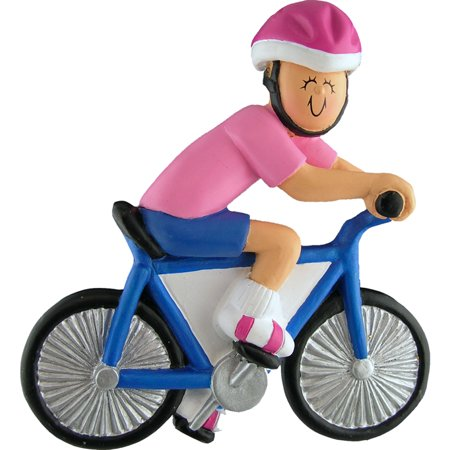 Bicycle Rider Female Personalized  Christmas Ornament DO-IT-YOURSELF ()