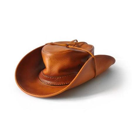 82ba63ee542 Pratesi - Pratesi Italian Leather Cagliostro Western Hat 59 cm - 23.5