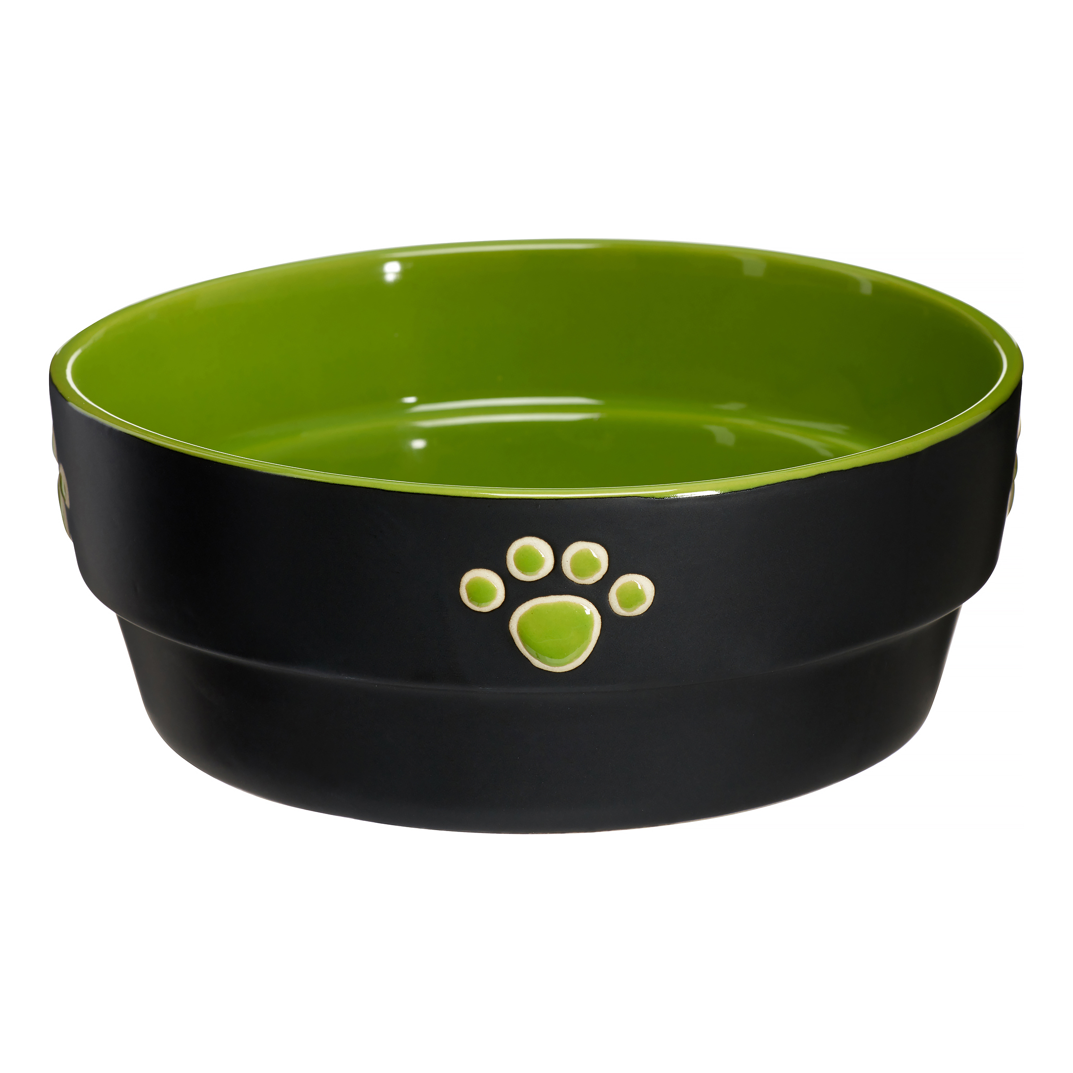 "Ethical Pet Fresco Dog Dish, 7"", Green/Black"
