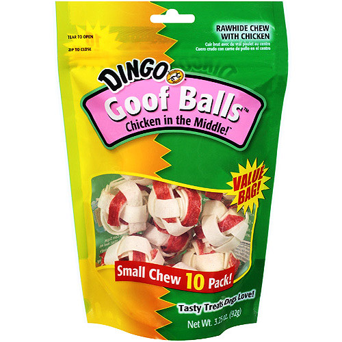 Dingo Goof Balls Chicken Rawhide Small Chews, 10ct