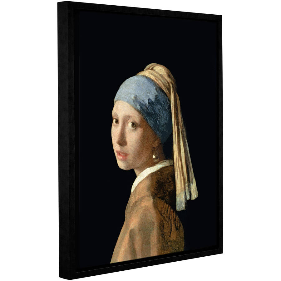 "Johannes Vermeer ""Girl With A Pearl Earring"" Floater-Framed Gallery-Wrapped Canvas"