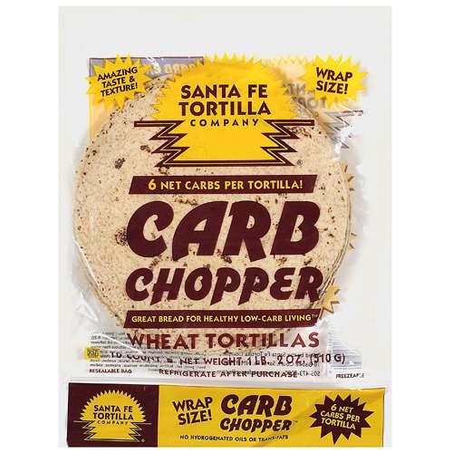 Santa Fe Tortilla Company Carb Chopper Wheat Flour Tortillas, 10 ct
