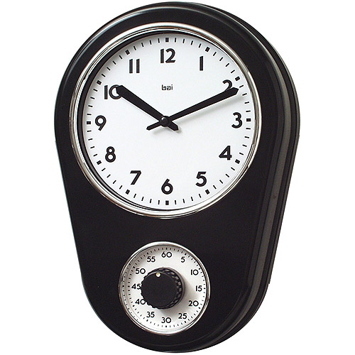 Bai Retro Kitchen Timer Wall Clock, Black by Generic