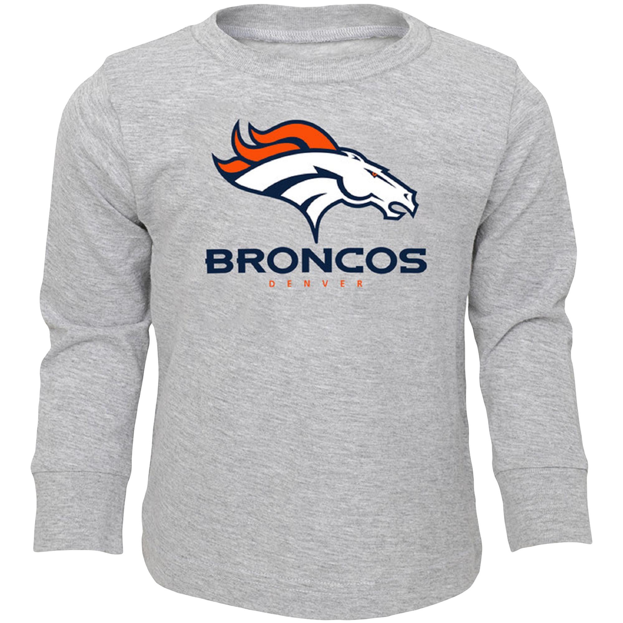 Infant Heathered Gray Denver Broncos Team Long Sleeve T-Shirt
