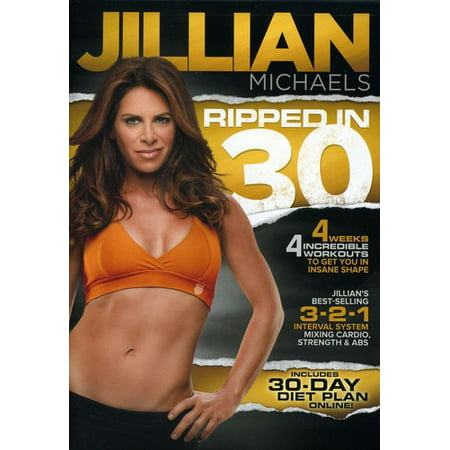 Jillian Michaels: Ripped in 30 (DVD) (Jillian Michaels The Biggest Winner Cardio Kickbox)