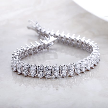20 Carat Weight Classic Double row tennis bracelet (Classic Tennis Bracelet Set)