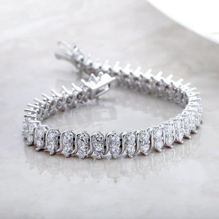20 Carat Weight Classic Double row tennis bracelet Double Row Oval Bracelet