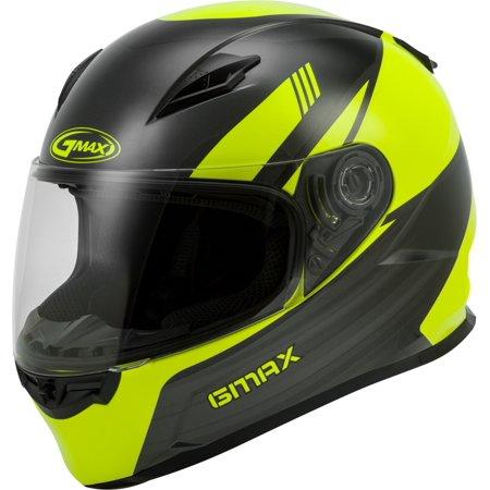 Gmax Motorcycle Helmets (GMAX GM-49Y Deflect Youth Motorcycle Helmet Hi-Vis/Gray )