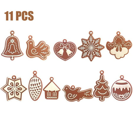 Peroptimist Gingerbread Man Christmas Ornaments Chrismas Tree Pendant Decoration Year Decor Party Supply ()