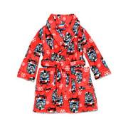 Thomas The Train and Friends Toddler Boys Fleece Bathrobe Robe (2T, Red)