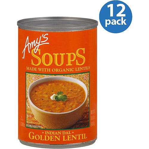 Amy's Golden Lentil Soup, 14 oz, (Pack of 12) by Amy's Kitchen