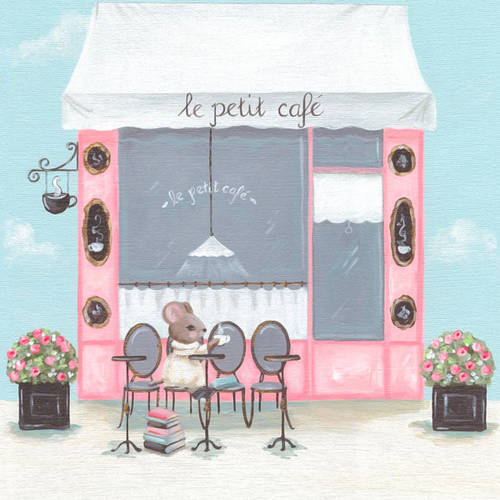 Oopsy Daisy's Little Petite Cafe Canvas Wall Art, 10x10