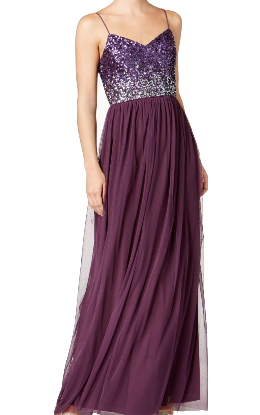 5027358691d Adrianna Papell Women s Sequin Embellished Gown Dress
