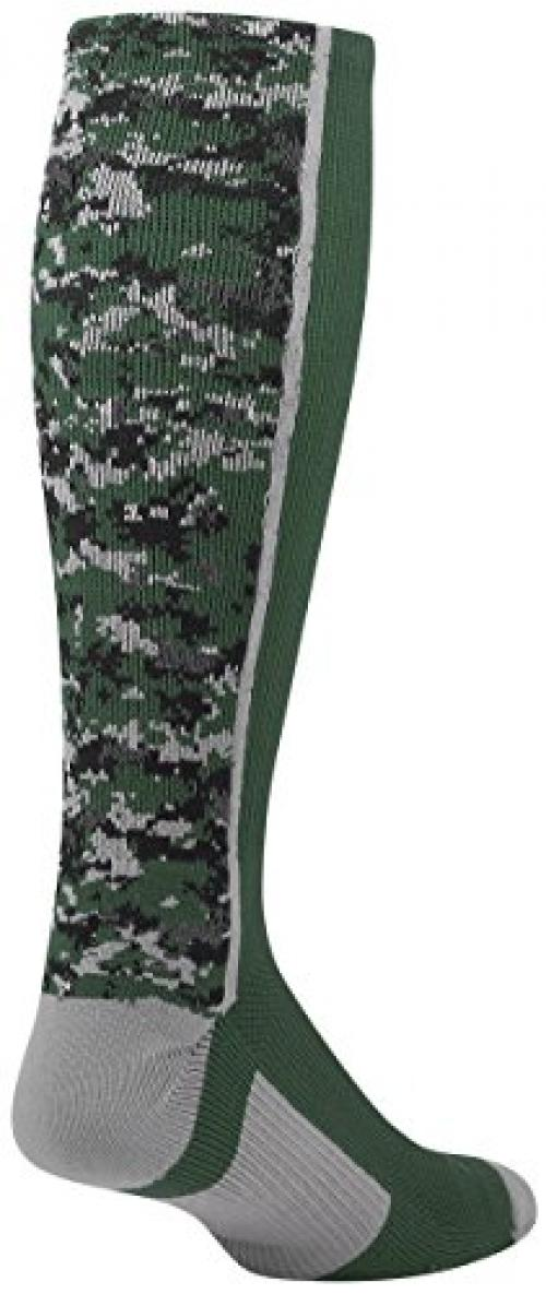 Twin City Digital Camo Crew Socks Dark Green Xl