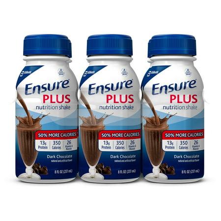 Ensure Plus Nutrition Shake  Rich Dark Chocolate  8 Fl Oz  4 6 Packs