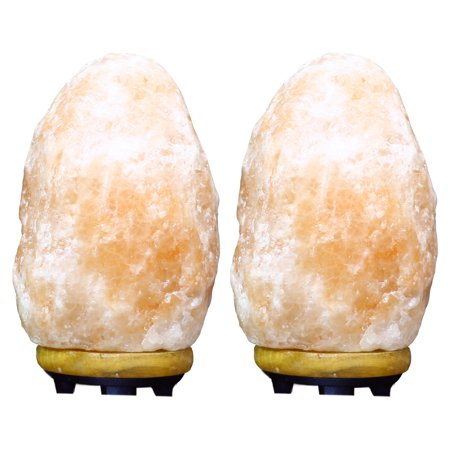 Himalayan Glow Natural Crystal Salt Lamp Twin Pack (Hiddenite Crystal)