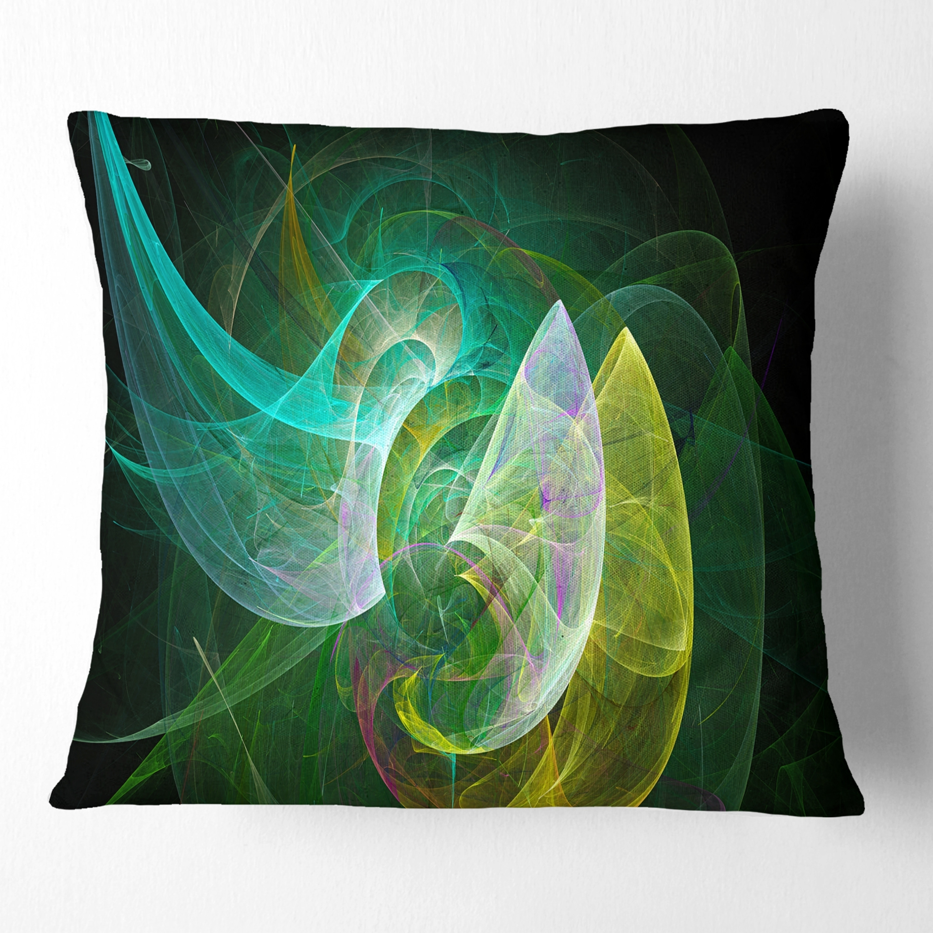 Design Art Designart Green Mystic Psychedelic Texture Abstract Throw Pillow Walmart Com Walmart Com