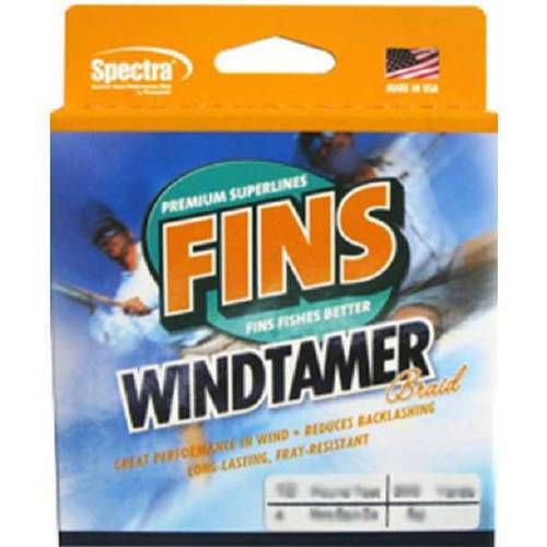 "Click here to buy Fins Spectra Windtamer Slate Green 2000 yds 10 lb Test 0.007"" Diameter Fishing Line by Generic."