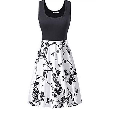 ab463436f30a Redcolourful - Women s A Line Sleeveless Floral Summer Dress - Walmart.com