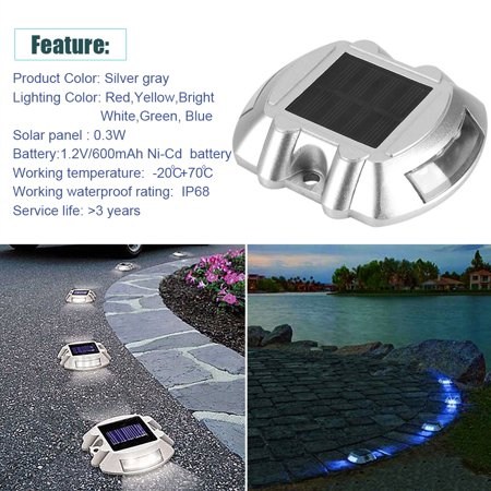 Sonew Casting Aluminum Solar Power Waterproof 6 LED Lamp Wireless Outdoor Road Driveway Pathway Light
