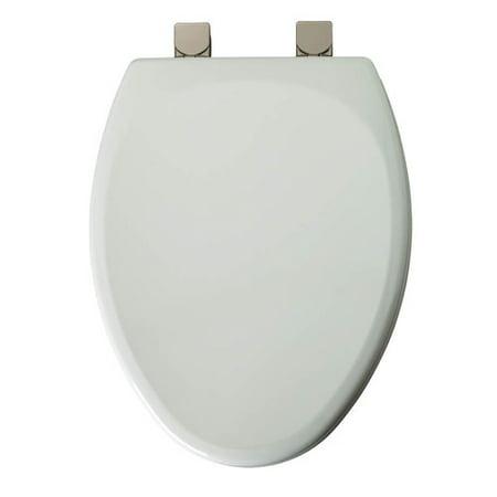 mayfair 149bnec wood elongated toilet seat white