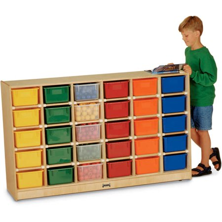 30 Cubbie-Tray Mobile Storage - without Trays - - 30 Tray Mobile Cubbie