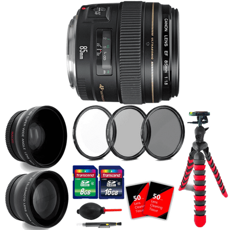 Canon EF 85mm f/1.8 USM Lens with Ultimate Accessories for Canon SLR