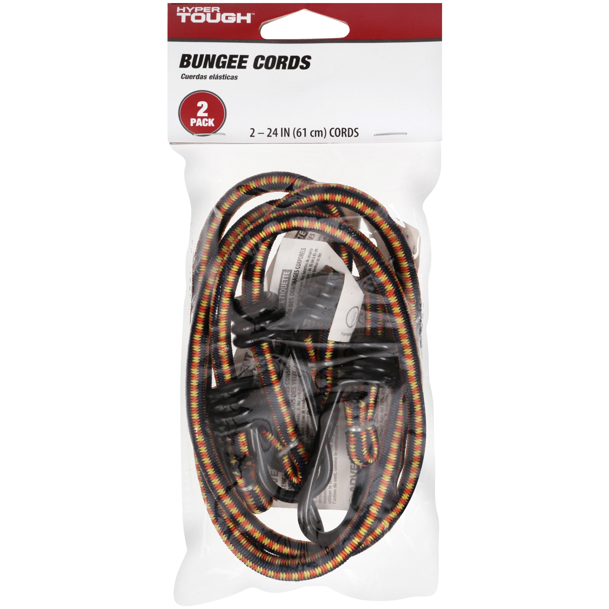 "Hyper Tough 24"" Bungee Cord, 2-Pack"