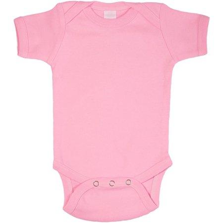 - Pink Plain Baby Bodysuit One Piece