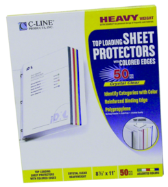 Sheet Protector with Colored Edge - PT -  62000