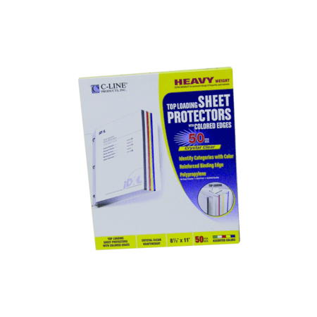Sheet Protector with Colored Edge - PT - 62000 - Walmart.com