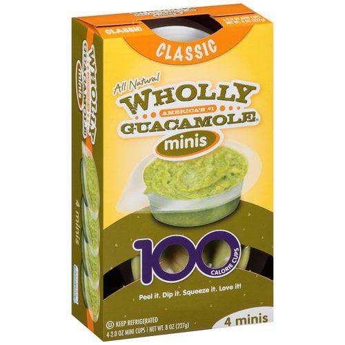 Wholly Guacamole Classic Minis Guacamole, 2 oz, 4 count