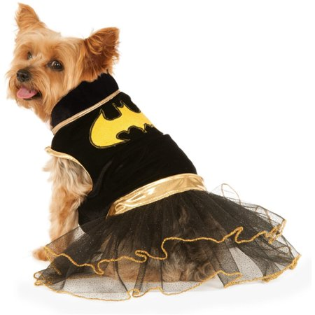 Classic Black Batgirl DC Comics Superhero Tutu Dress Pet Dog Costume for $<!---->