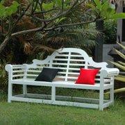Anderson Teak Marlborough White Mahogany 3-Seater Patio Bench