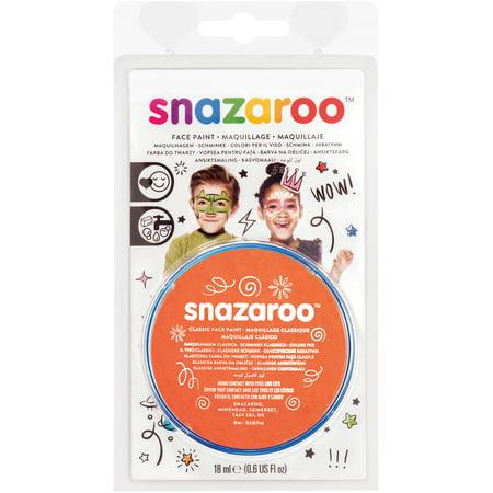 snazaroo Kids Makeup Clam Shell 18ml Water-Activated Makeup, Orange (Snazaroo Halloween Makeup)