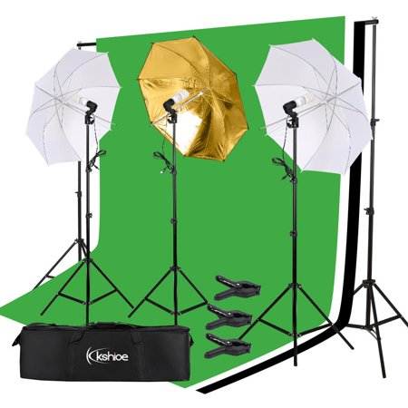 Zimtown Photography Background Studio Backdrop Softbox Umbrella Continuous Lighting