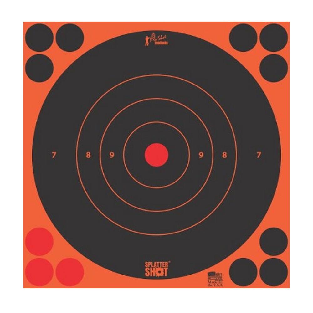 12In Orange Bullseye Target 12Pk