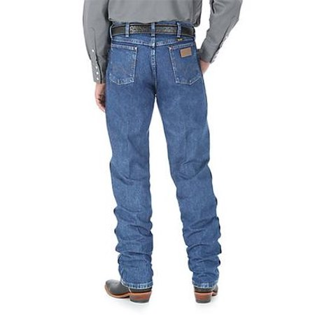 Stonewashed Jeans - Wrangler Mens Original Fit Cowboy Cut Jeans - Stonewashed  (Extended Length)
