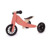 Kinderfeets Tiny Tot 2-in-1 Balance Bike and Tricycle, Burn Coral